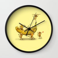 Monkeys are nuts! Wall Clock