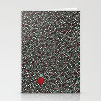 Blue W/Red Accent Dot Co… Stationery Cards