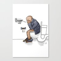 Bugger... Canvas Print
