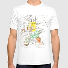my back porch White Mens Fitted Tee SMALL