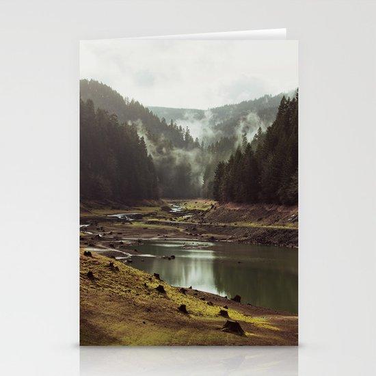 Foggy Forest Creek Stationery Card