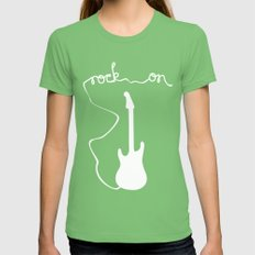 Rock On Womens Fitted Tee Grass SMALL