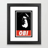 Obey Wan Framed Art Print