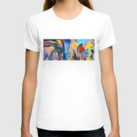 Sunset Oil Womens Fitted Tee White SMALL