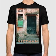 ANTIQUE CHINESE WALL - H… Mens Fitted Tee Black SMALL