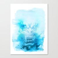 Démon Blue Canvas Print