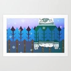 Forest Camo Art Print