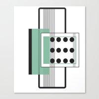 Dominoeffekt Canvas Print