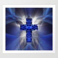cross Art Prints featuring Cross by Mr D's Abstract Adventures