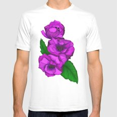 Peony Mens Fitted Tee White SMALL