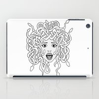 Foolish Medusa (b&w) iPad Case