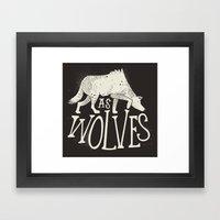 As Wolves Framed Art Print