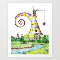 Castle Bazzlenoor Art Print