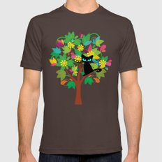 I tried to go to school but I got stuck in a tree instead Mens Fitted Tee Brown SMALL