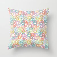 Colored pattern Throw Pillow