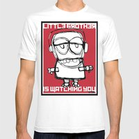 Little Brother Is Watchi… Mens Fitted Tee White SMALL
