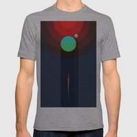 Invasion Mens Fitted Tee Athletic Grey SMALL