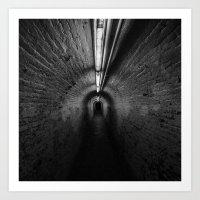P Tunnel Art Print