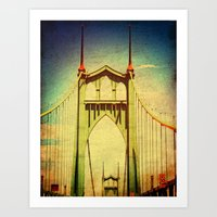 St. John's Bridge Portla… Art Print