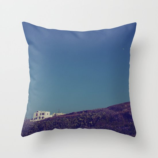 House on a Hill II Throw Pillow