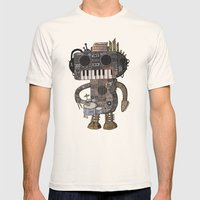Musicbot Mens Fitted Tee Natural SMALL