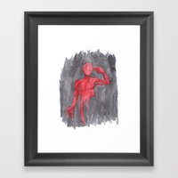 Last Man Out Framed Art Print