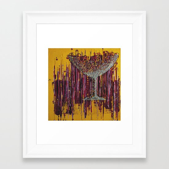 :: Afternoon Wine :: Framed Art Print