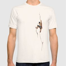 Climbing: Solitude Mens Fitted Tee Natural SMALL