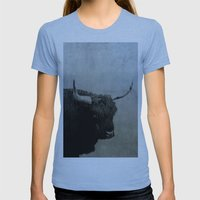 The Lumbering Beast  Womens Fitted Tee Athletic Blue SMALL
