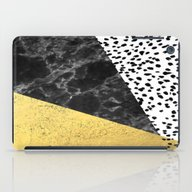 Mele - Gold Abstract Pai… iPad Case