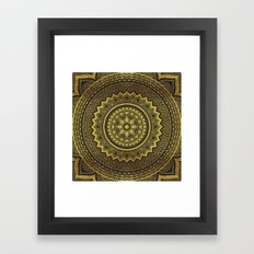 Black And Gold Mandala Framed Art Print