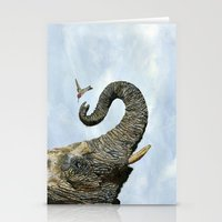 Elephant Cyril And Hummingbird Ayre Stationery Cards