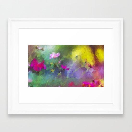 Abstract Garden Framed Art Print