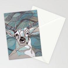 Aqua Deer  Stationery Cards