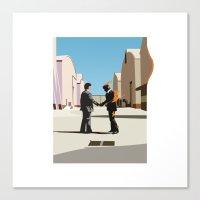 Wish You Were Flat Canvas Print