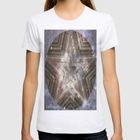 Hollywood Star With Wate… Womens Fitted Tee Ash Grey SMALL