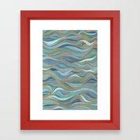 Wave lines 1 Framed Art Print