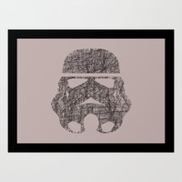 Lines of Trooper Art Print