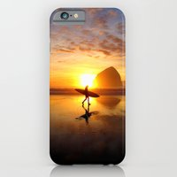 iPhone & iPod Case featuring Surfer at Sunset by Julie