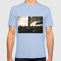 Alive Mens Fitted Tee Tri-Blue SMALL