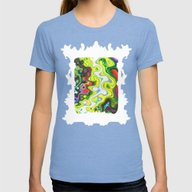 Gamma Tides Womens Fitted Tee Tri-Blue SMALL