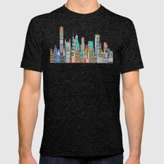 Memphis city Mens Fitted Tee Tri-Black SMALL