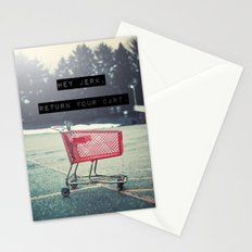 Grocery Cart Rage  Stationery Cards