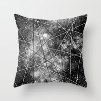 Fly Up to the Heavens (bnw) Throw Pillow