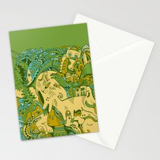 Green Town Stationery Cards