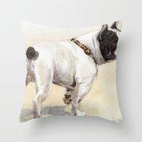 French Bulldog A050 Throw Pillow