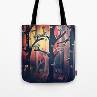 The Woods at Sunset Tote Bag