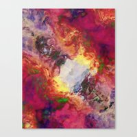 Shades of Red Abstract Canvas Print