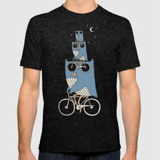 Night Rider Mens Fitted Tee Tri-Black SMALL