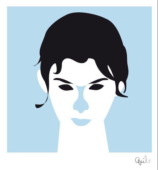 Audrey Justine Tautou Art Print